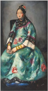 Primo Conti (Firenze 1900-Fiesole 1987) Ritratto di Lyung-Yuk 1924 olio su tela deposito dell'Accademia delle Arti del Disegno, 1924 Firenze, Galleria d'arte moderna di Palazzo Pitti