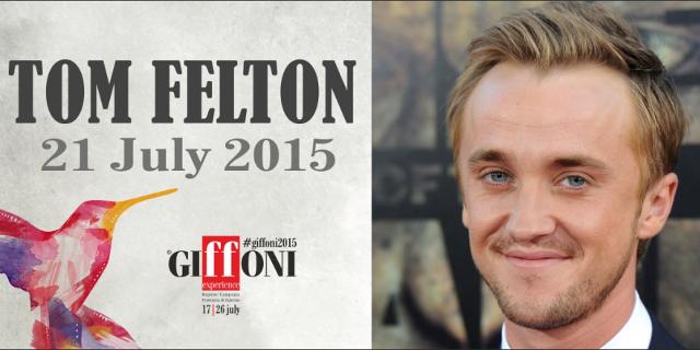 Tom Felton al Giffoni Film Festival il 21 luglio