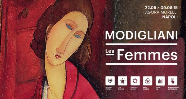 """""""Les femmes"""" di Amedeo Modigliani, in mostra a l'Agorà Morelli di Napoli."""