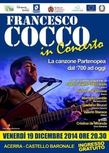 Francesco Cocco in concerto il 19 dicembre ad Acerra